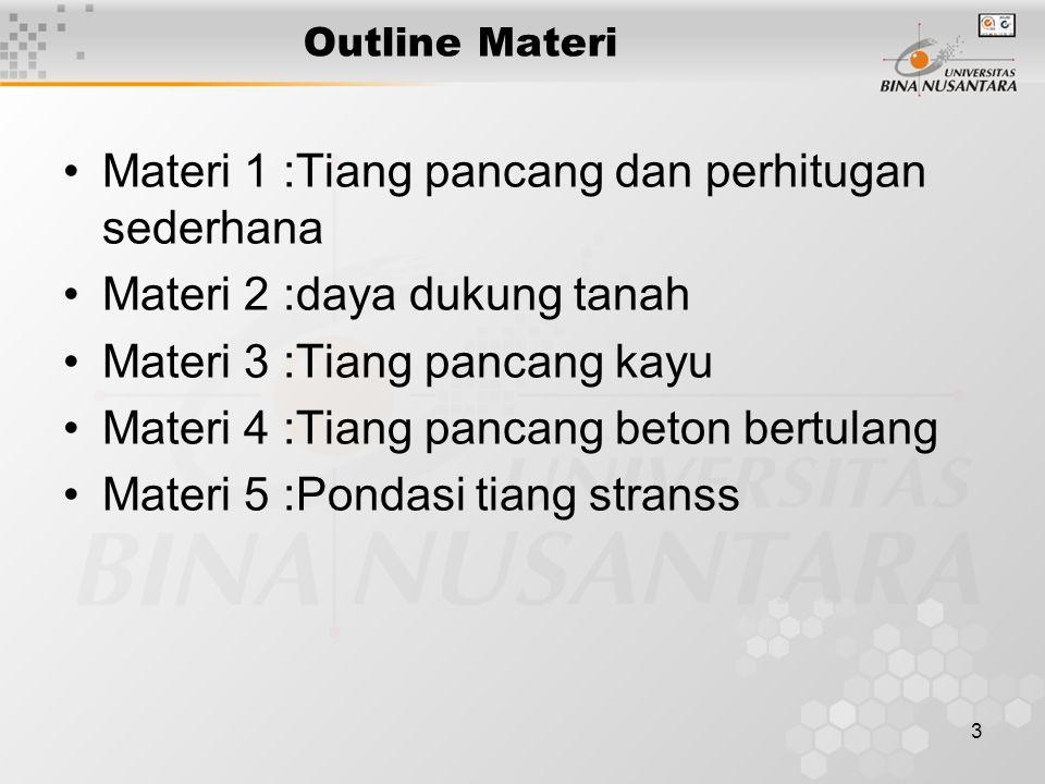 Materi 1 :Tiang pancang dan perhitugan sederhana