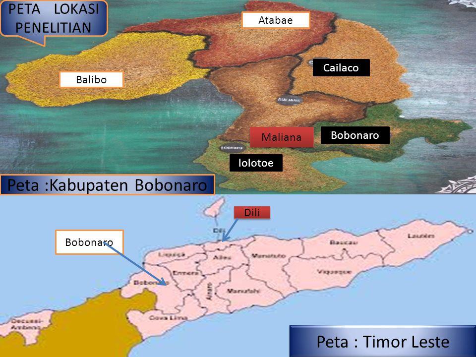 Peta :Kabupaten Bobonaro