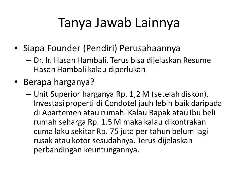 Tanya Jawab Lainnya Siapa Founder (Pendiri) Perusahaannya
