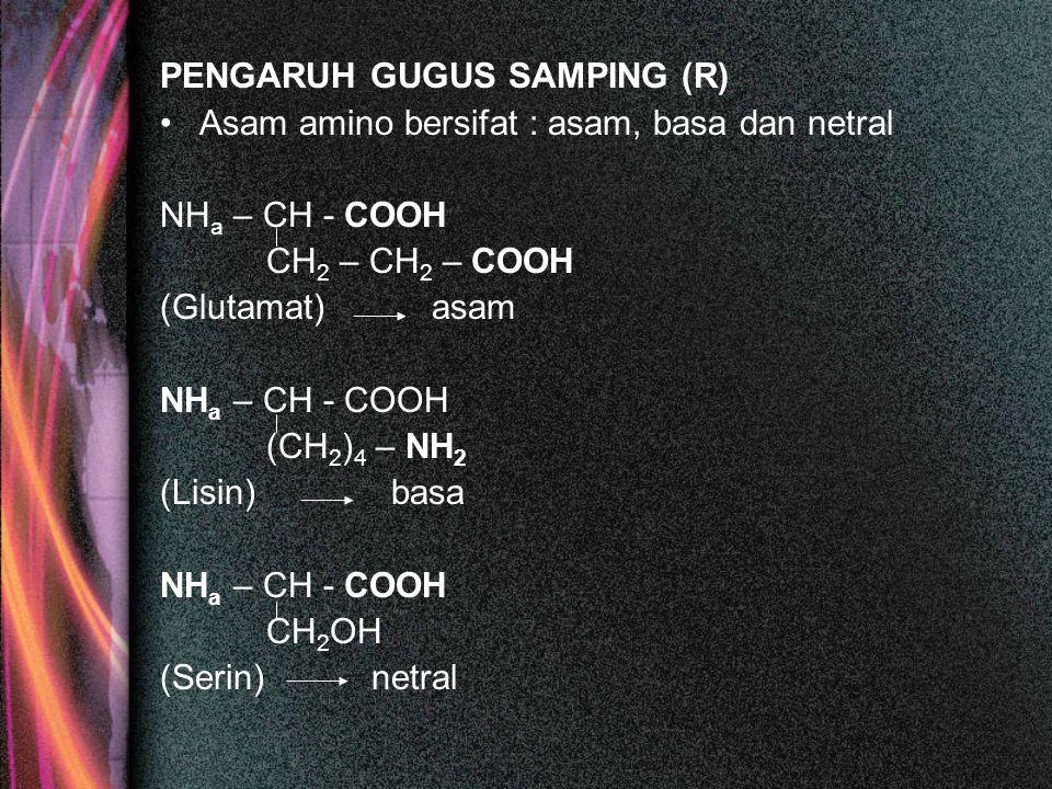 PENGARUH GUGUS SAMPING (R)