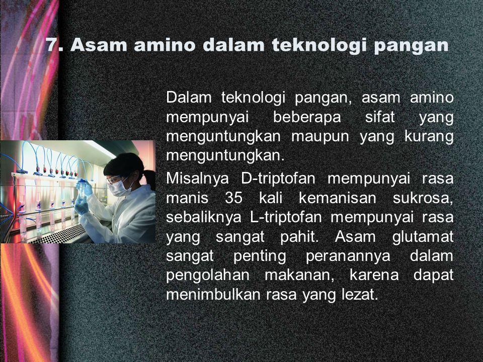 7. Asam amino dalam teknologi pangan