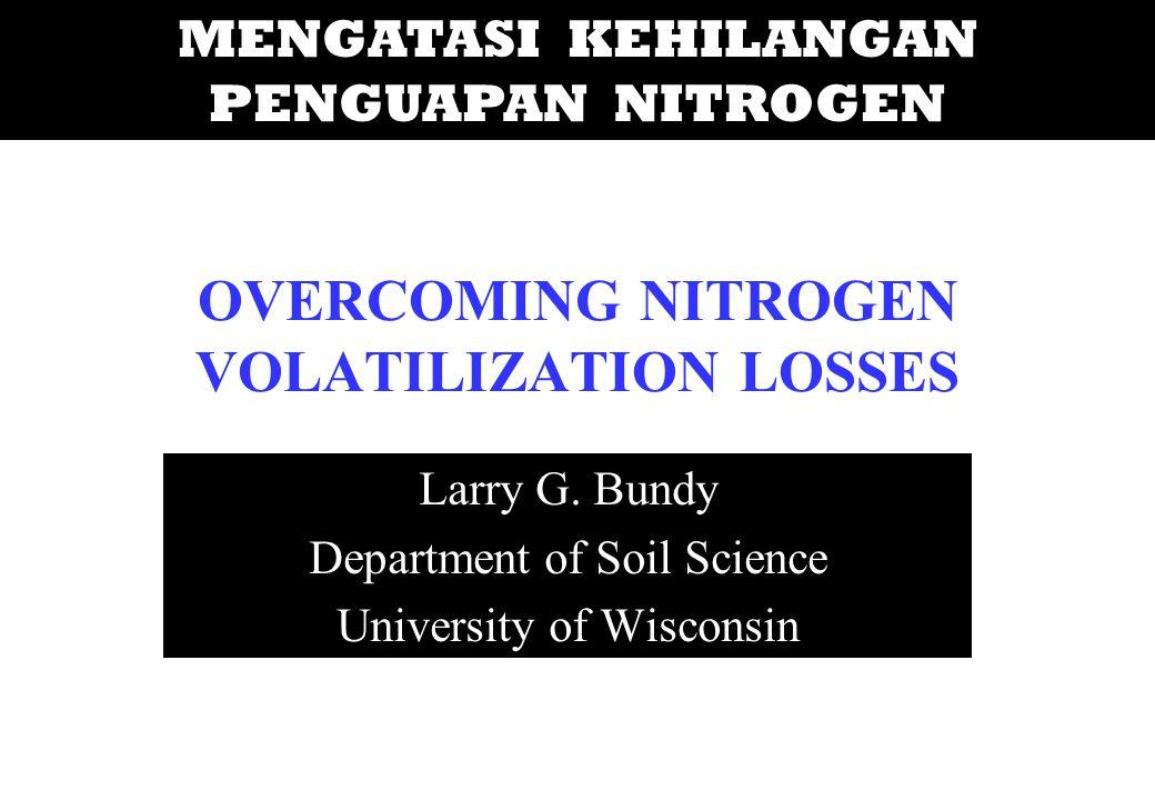 OVERCOMING NITROGEN VOLATILIZATION LOSSES