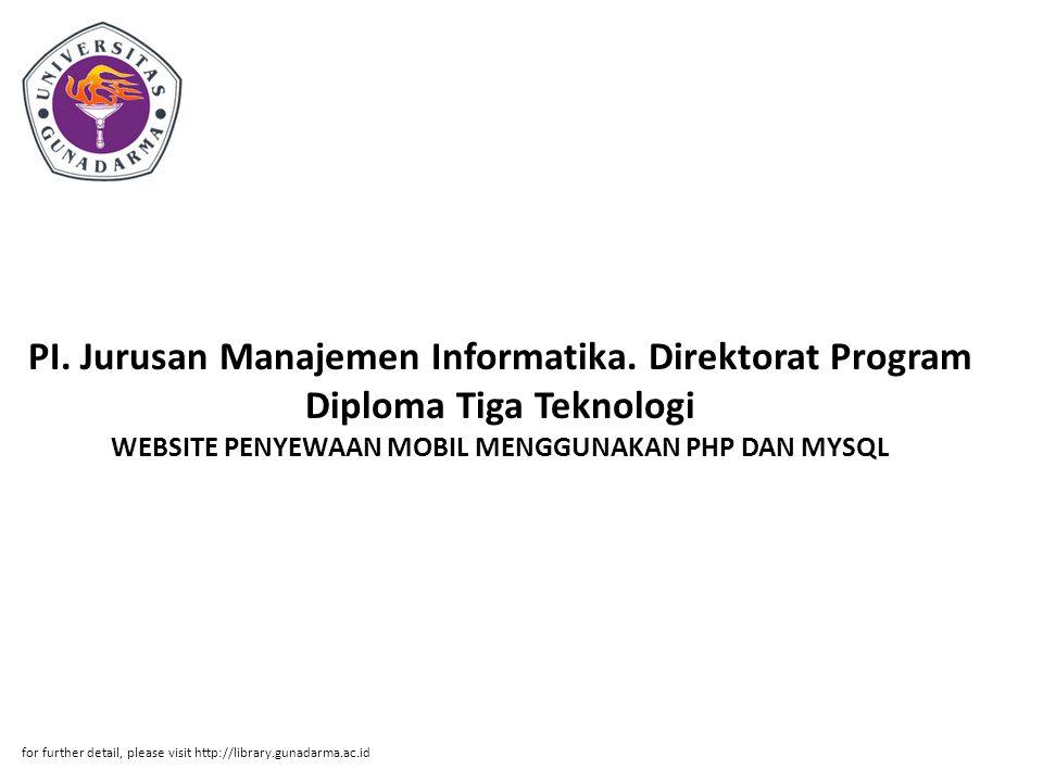 PI. Jurusan Manajemen Informatika