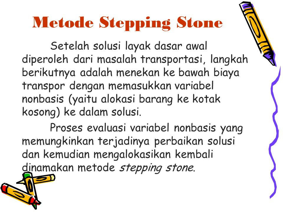 Metode Stepping Stone