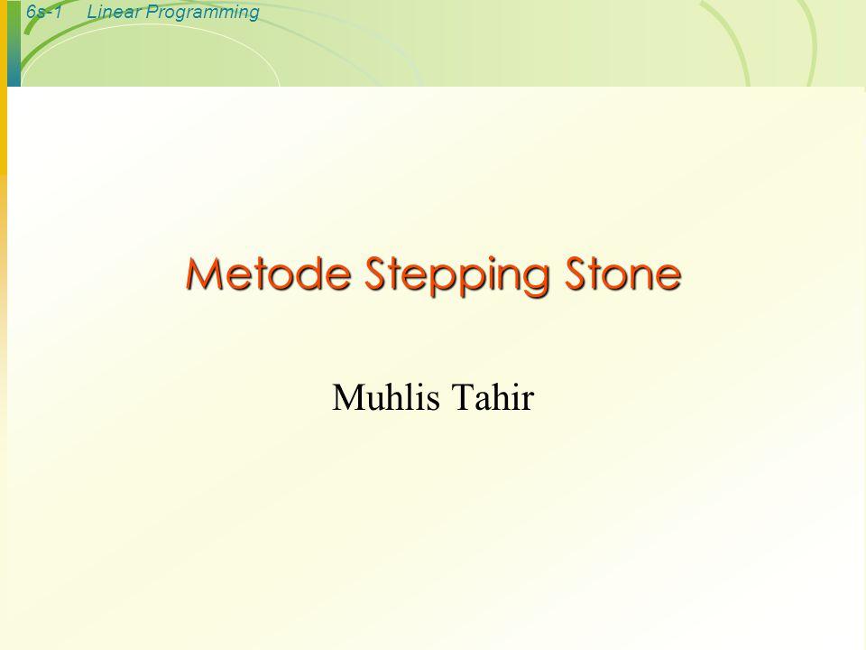 Metode Stepping Stone Muhlis Tahir