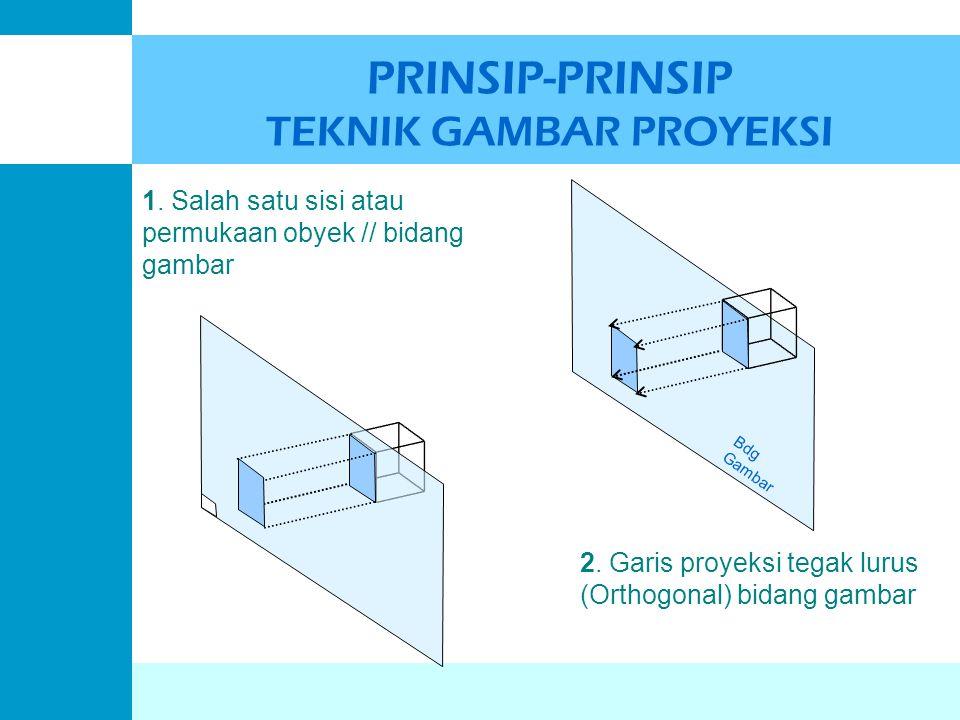 PRINSIP-PRINSIP TEKNIK GAMBAR PROYEKSI