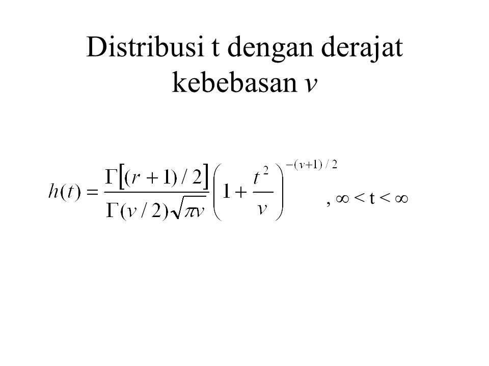 Distribusi t dengan derajat kebebasan v