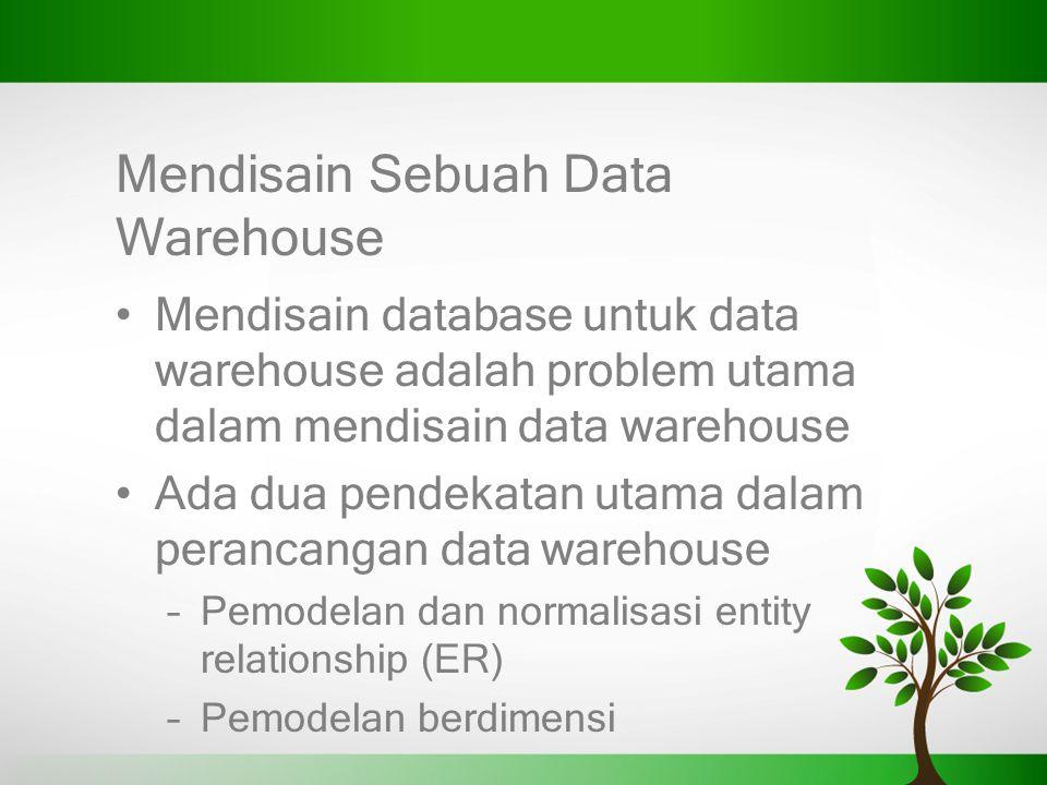 Mendisain Sebuah Data Warehouse