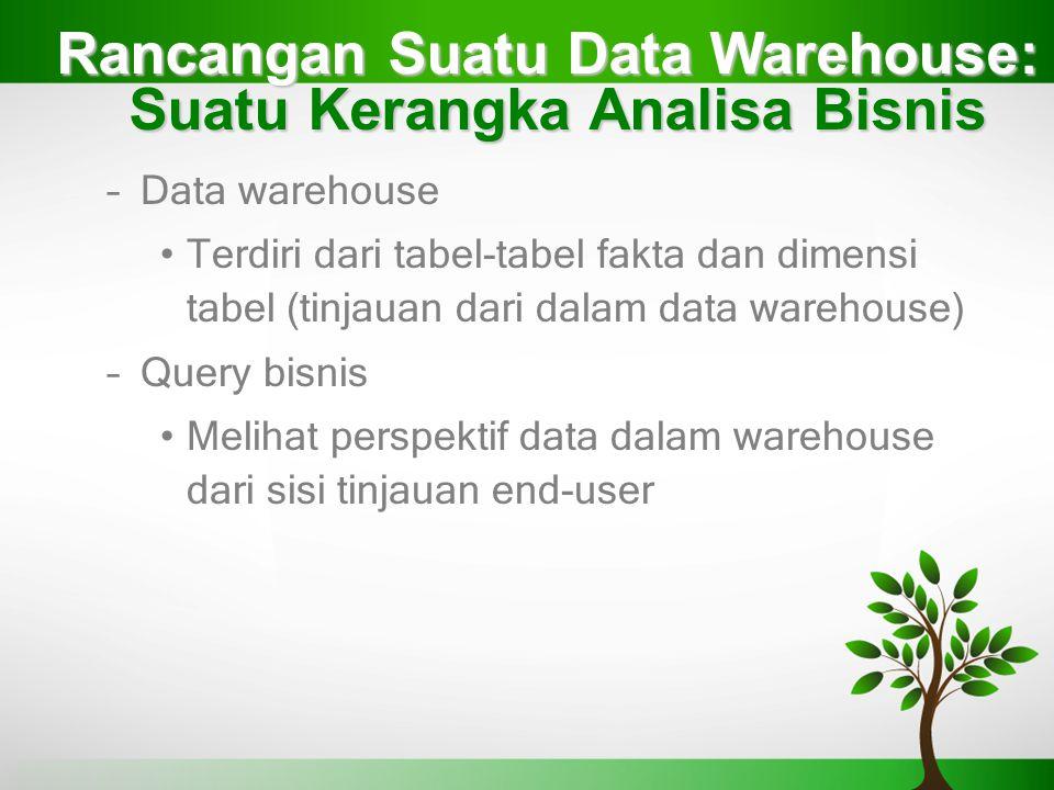 Rancangan Suatu Data Warehouse: Suatu Kerangka Analisa Bisnis