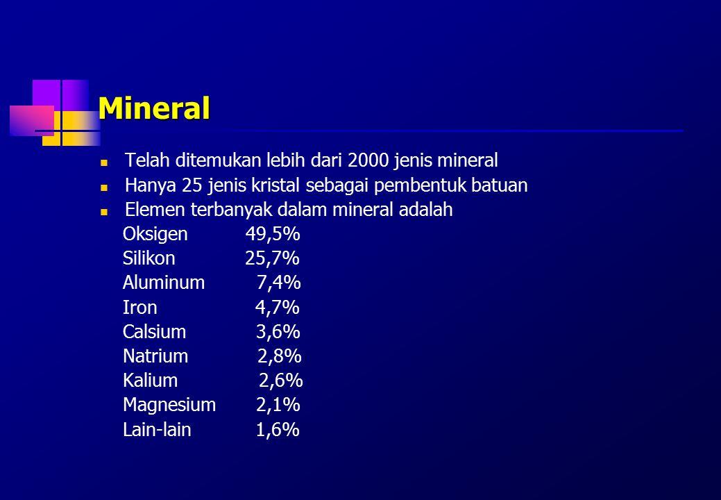 Mineral Telah ditemukan lebih dari 2000 jenis mineral