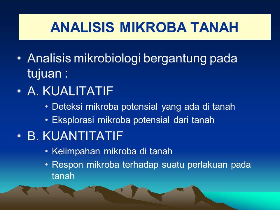 ANALISIS MIKROBA TANAH