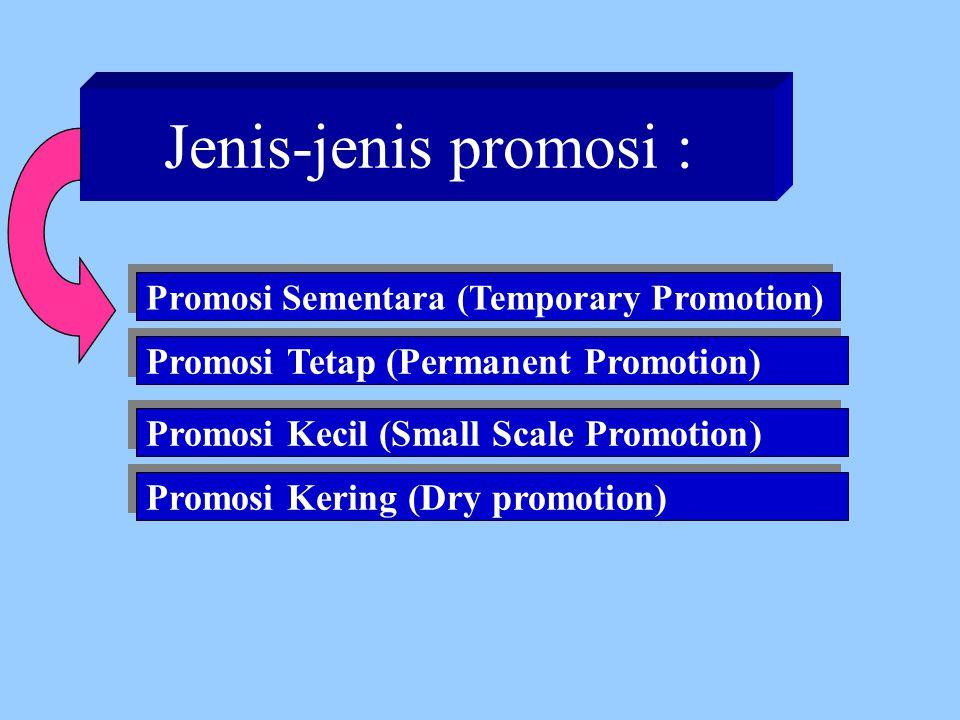 Jenis-jenis promosi : Promosi Tetap (Permanent Promotion)