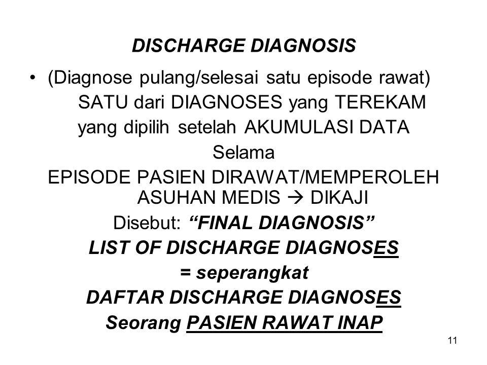 (Diagnose pulang/selesai satu episode rawat)