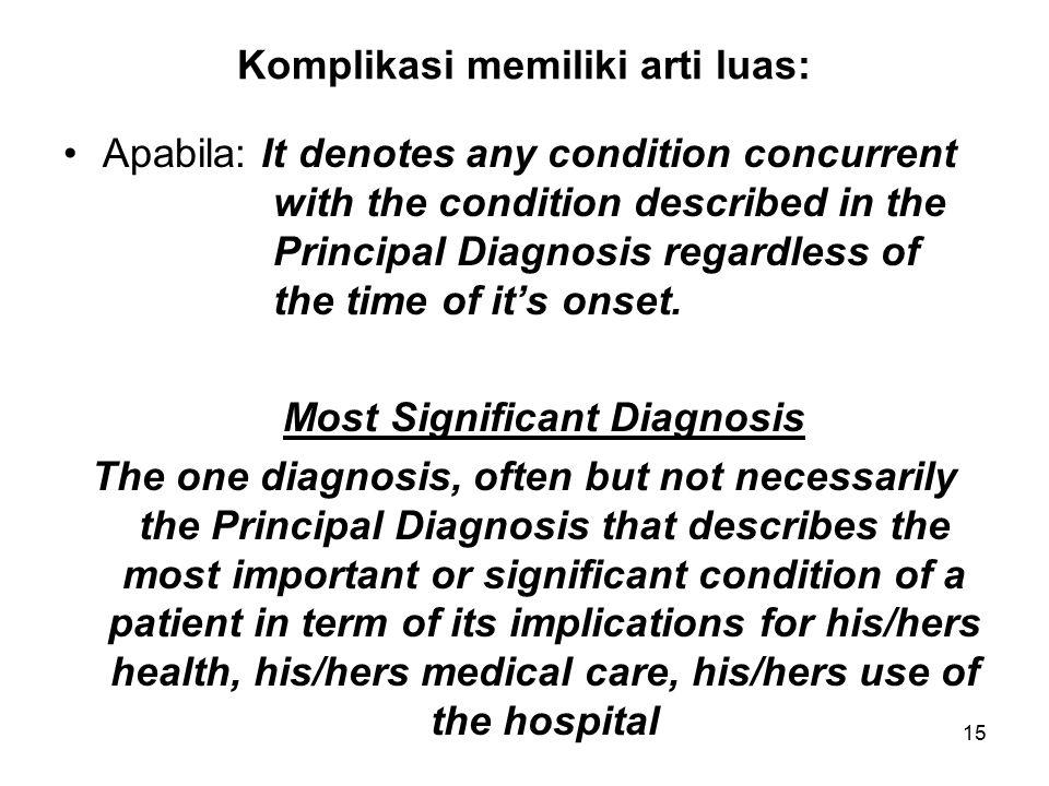 Komplikasi memiliki arti luas: