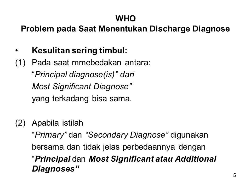WHO Problem pada Saat Menentukan Discharge Diagnose