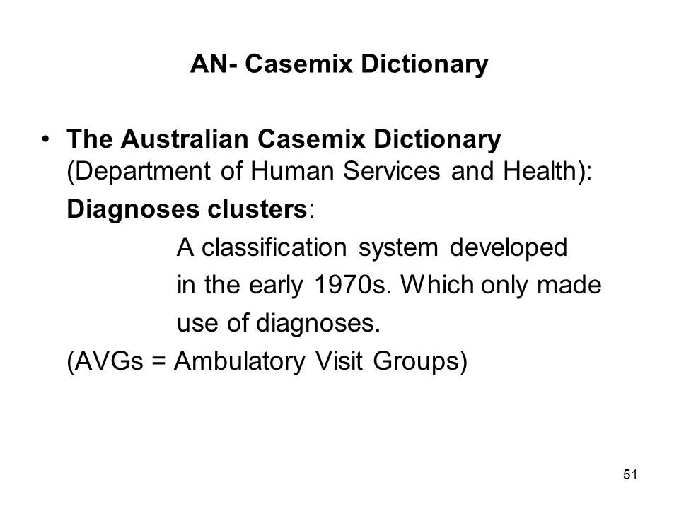 AN- Casemix Dictionary