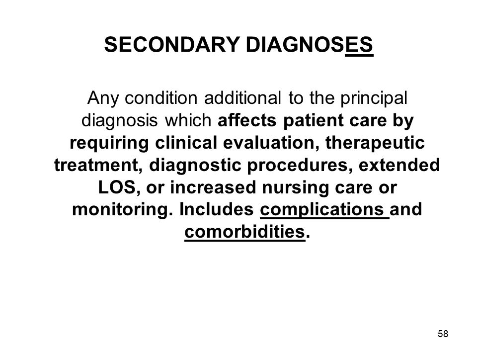 SECONDARY DIAGNOSES