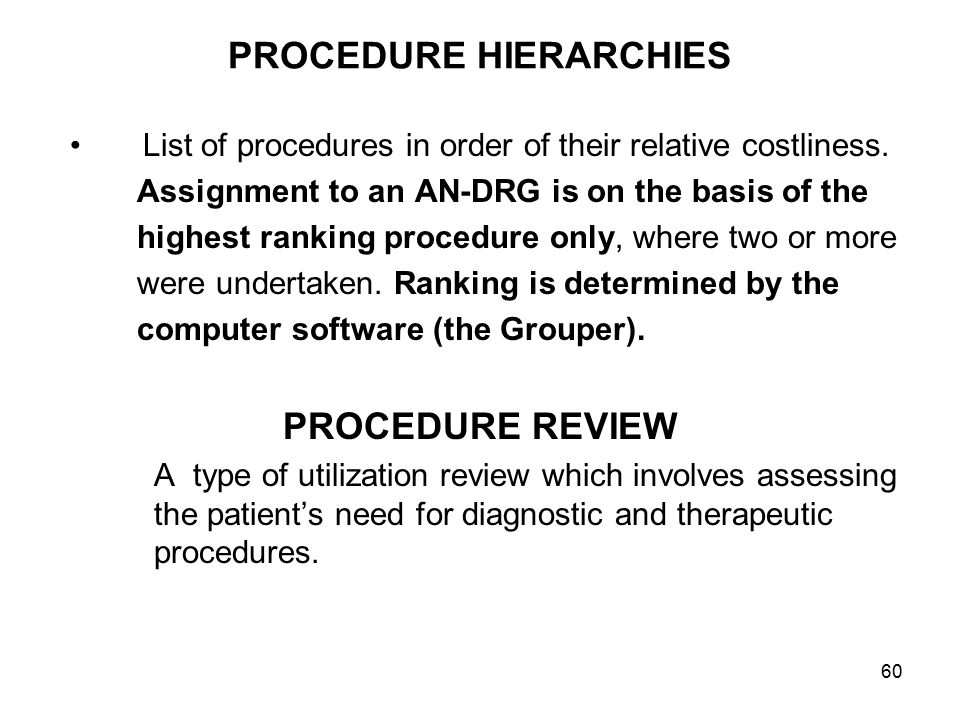 PROCEDURE HIERARCHIES
