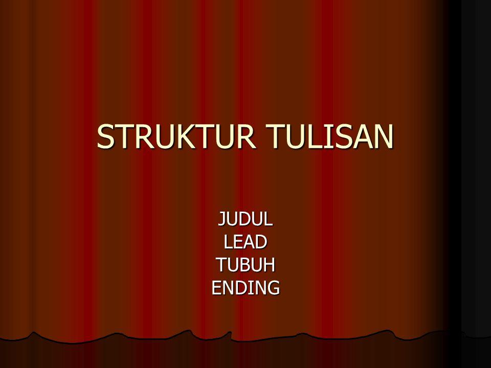 JUDUL LEAD TUBUH ENDING