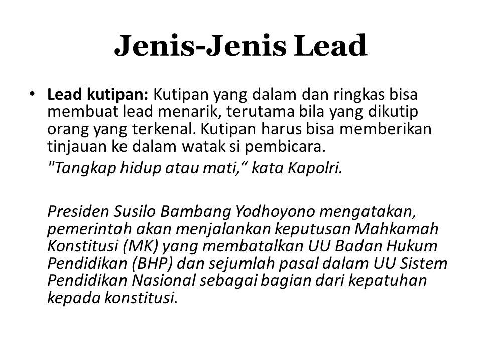 Jenis-Jenis Lead
