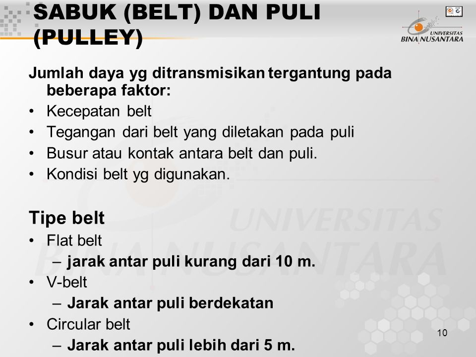 SABUK (BELT) DAN PULI (PULLEY)