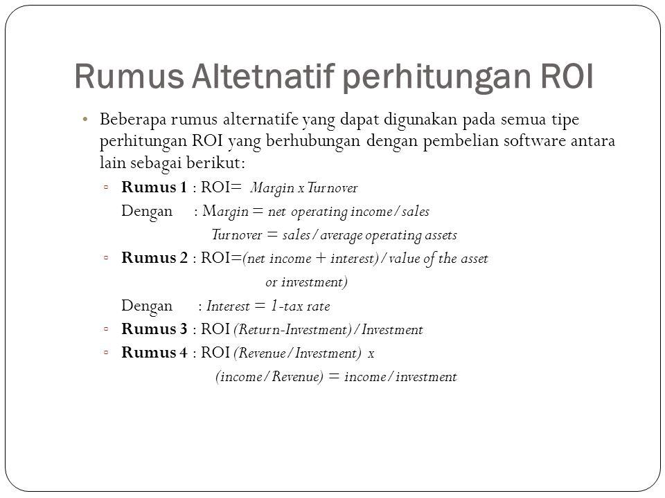 Rumus Altetnatif perhitungan ROI