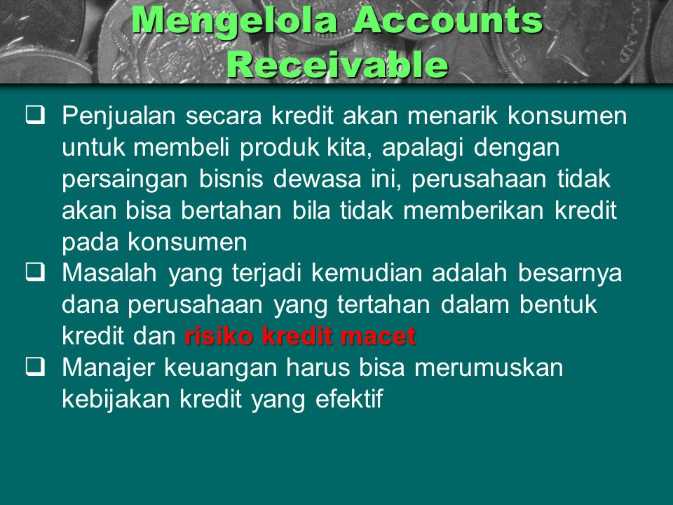 Mengelola Accounts Receivable