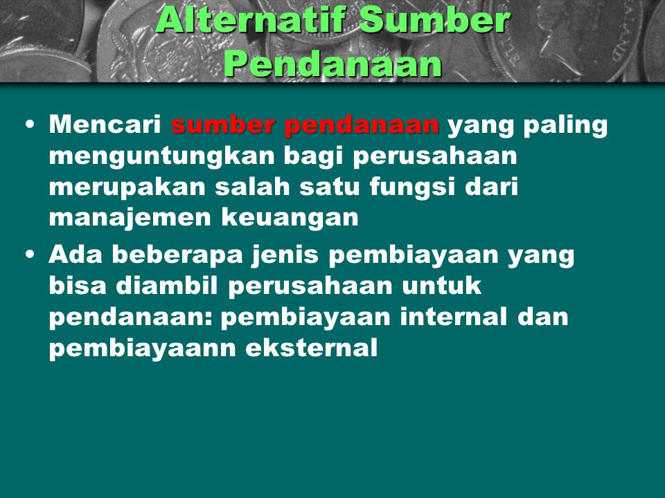 Alternatif Sumber Pendanaan
