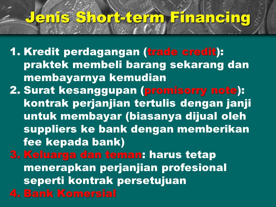 Jenis Short-term Financing