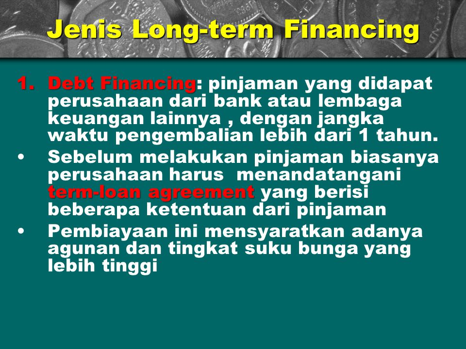 Jenis Long-term Financing
