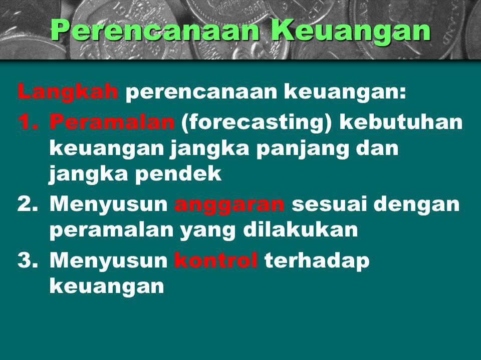 Perencanaan Keuangan Langkah perencanaan keuangan: