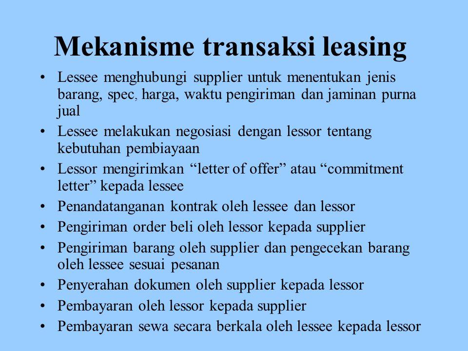 Mekanisme transaksi leasing