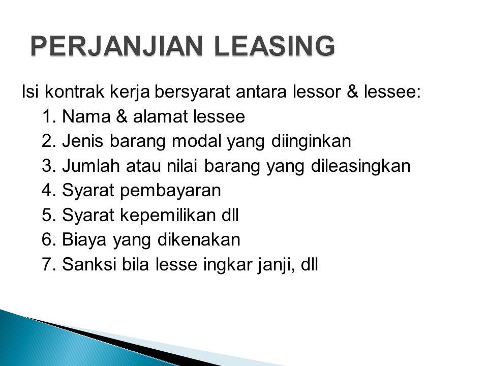 PERJANJIAN LEASING