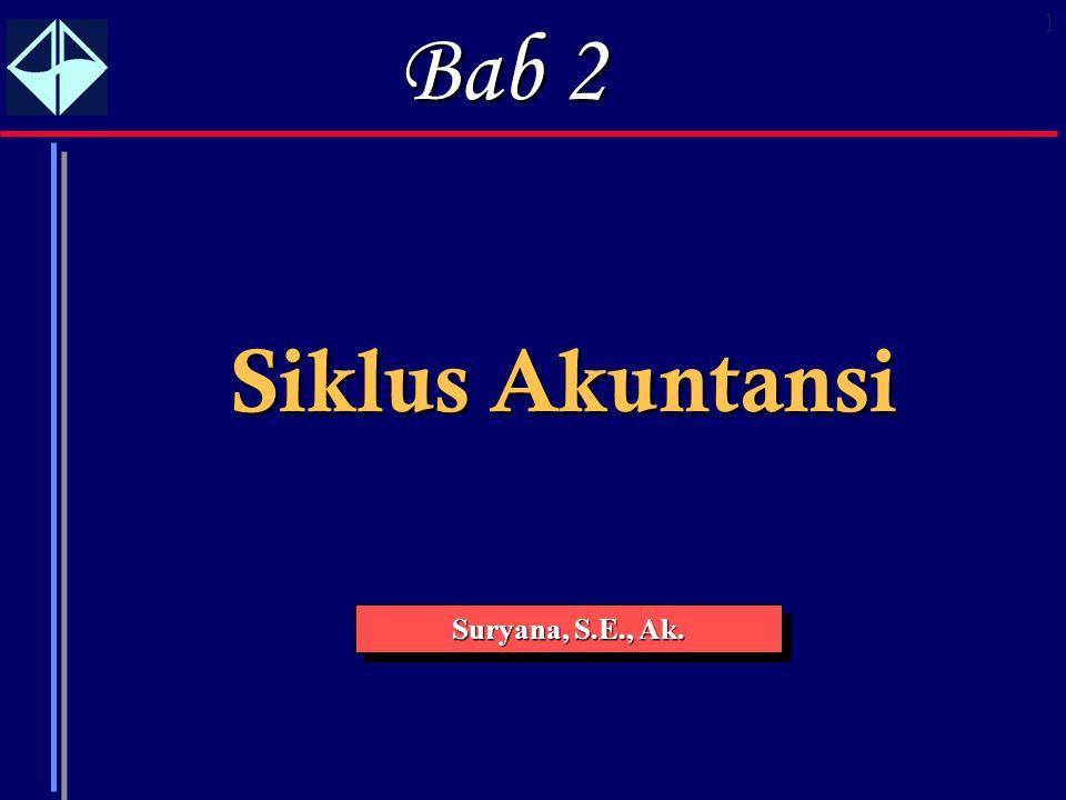 Bab 2 Siklus Akuntansi Suryana, S.E., Ak.