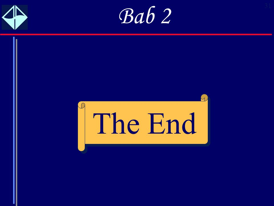 Bab 2 The End