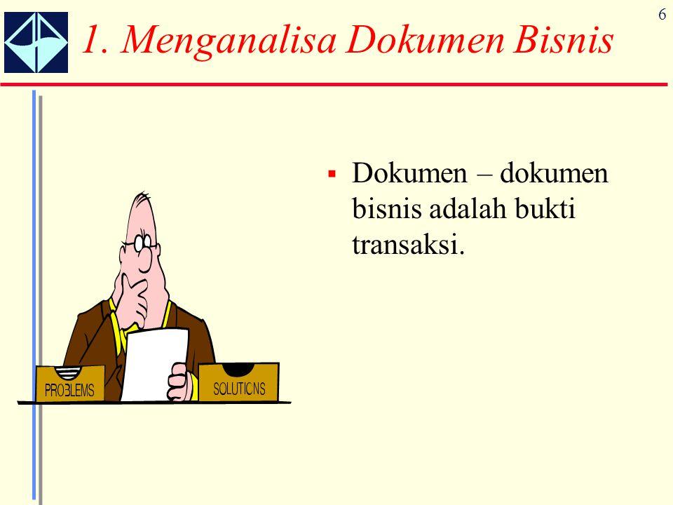 1. Menganalisa Dokumen Bisnis