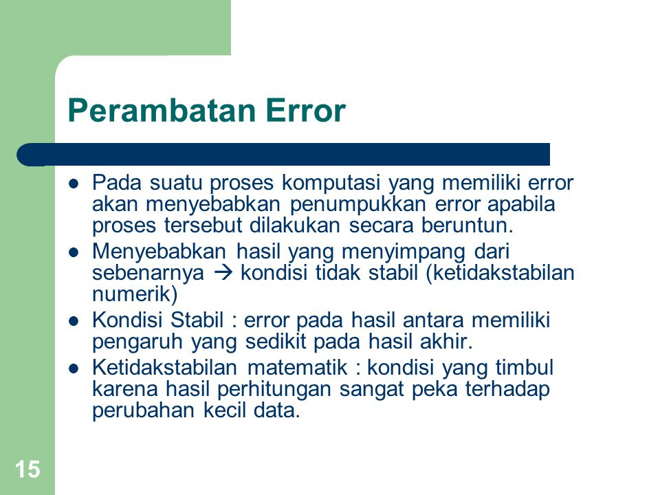 Perambatan Error