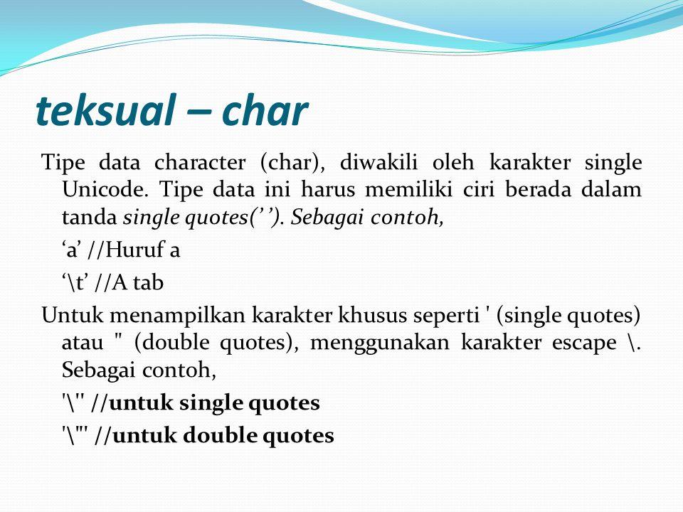 teksual – char