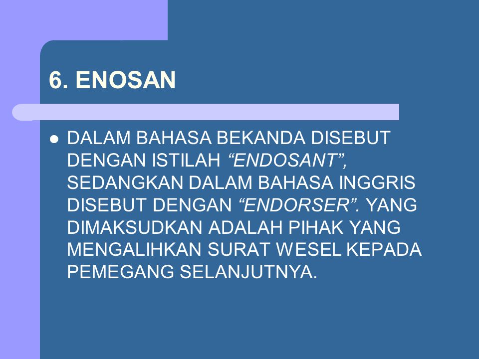 6. ENOSAN