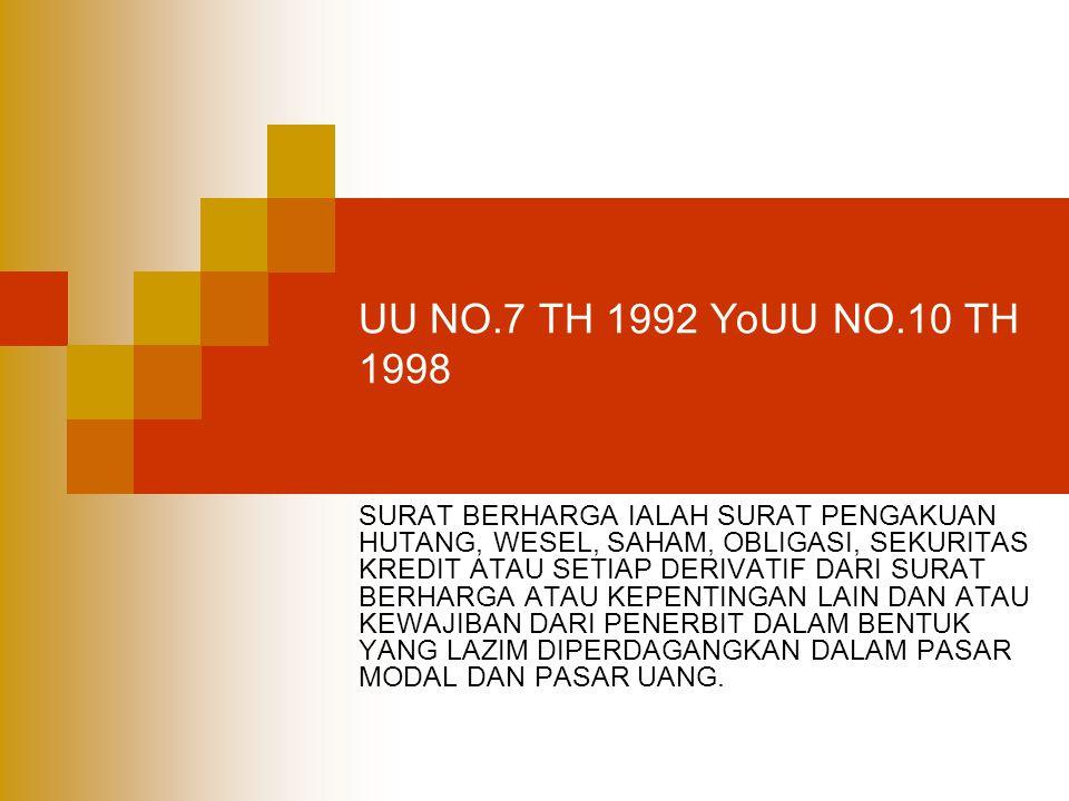 UU NO.7 TH 1992 YoUU NO.10 TH 1998