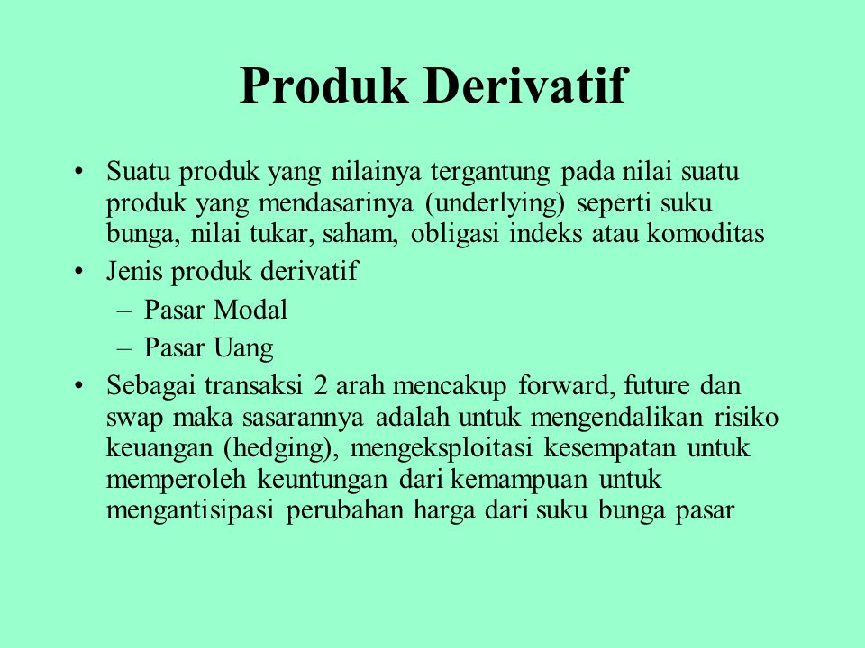 Produk Derivatif