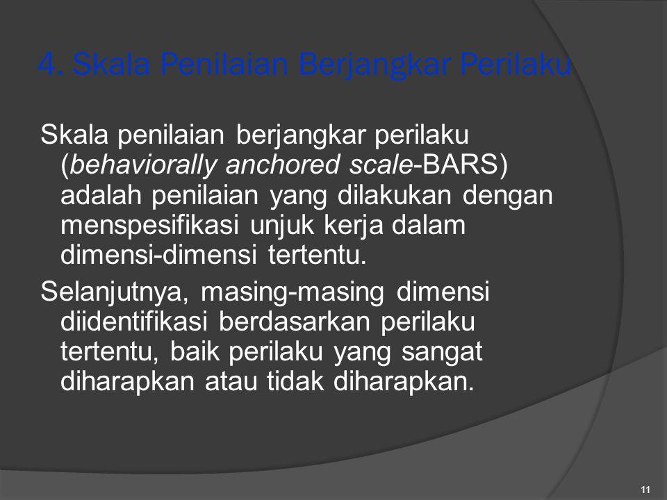 4. Skala Penilaian Berjangkar Perilaku
