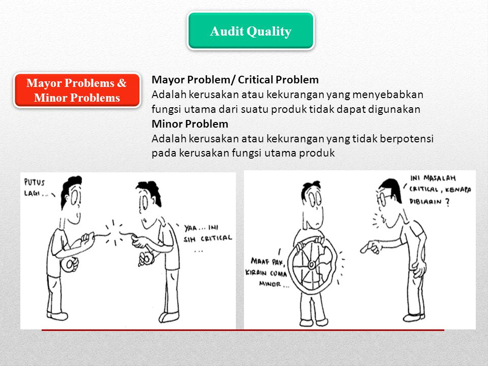 Mayor Problems & Minor Problems