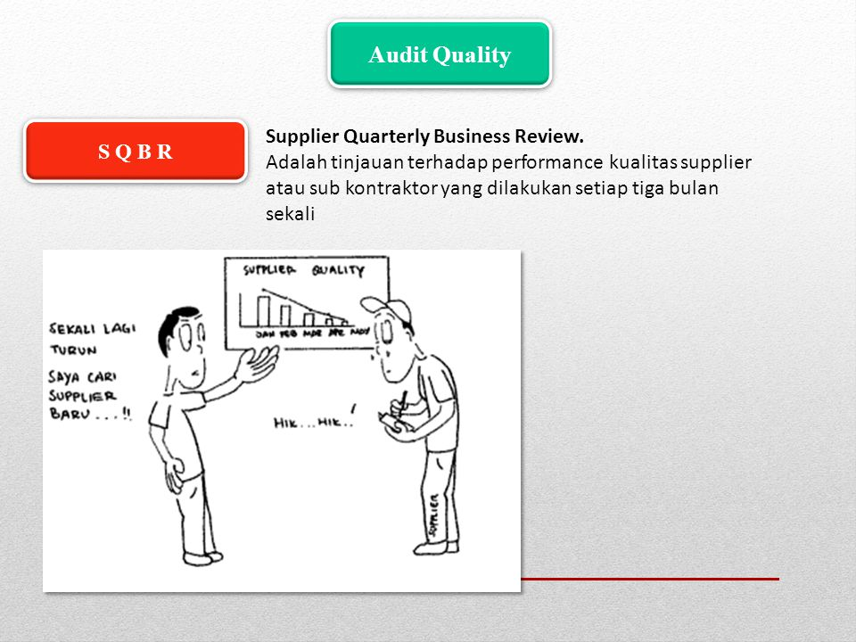 Audit Quality Supplier Quarterly Business Review. S Q B R