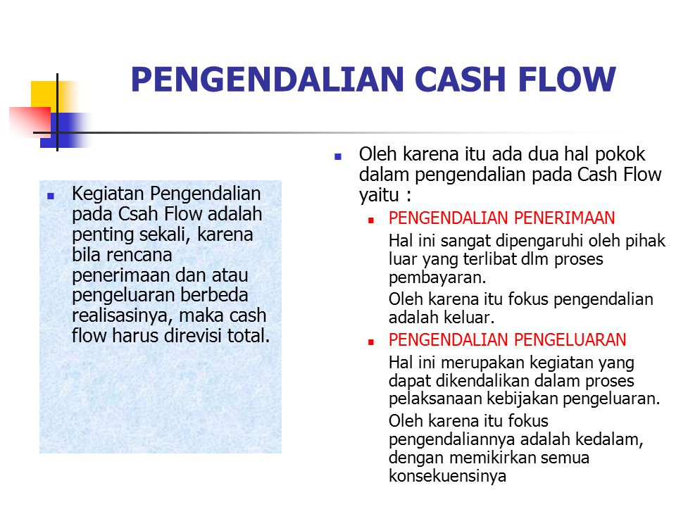 PENGENDALIAN CASH FLOW