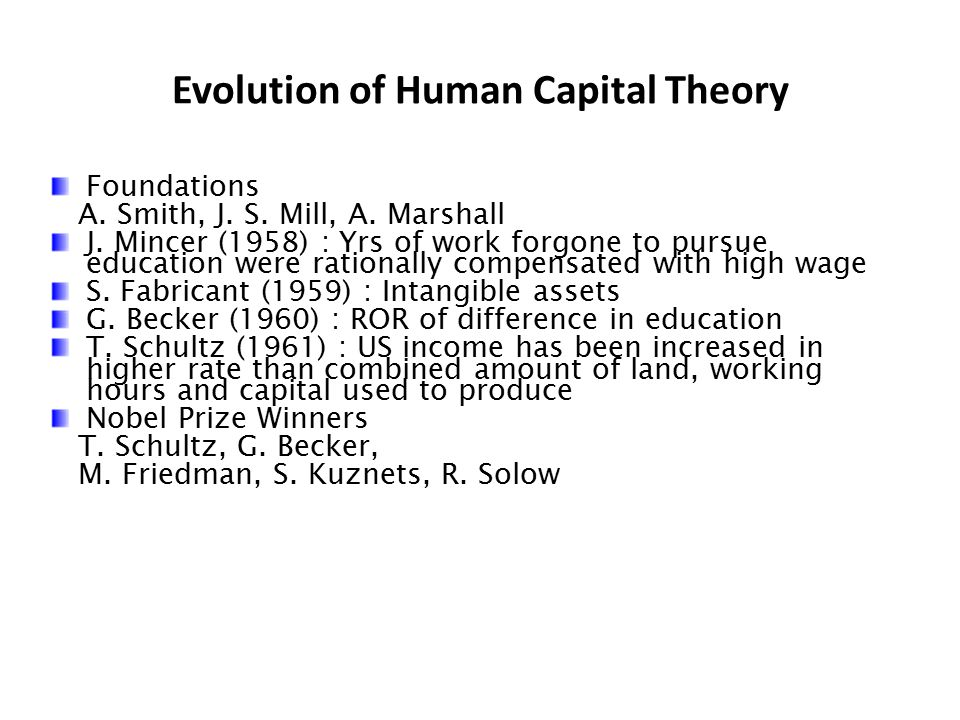 Evolution of Human Capital Theory