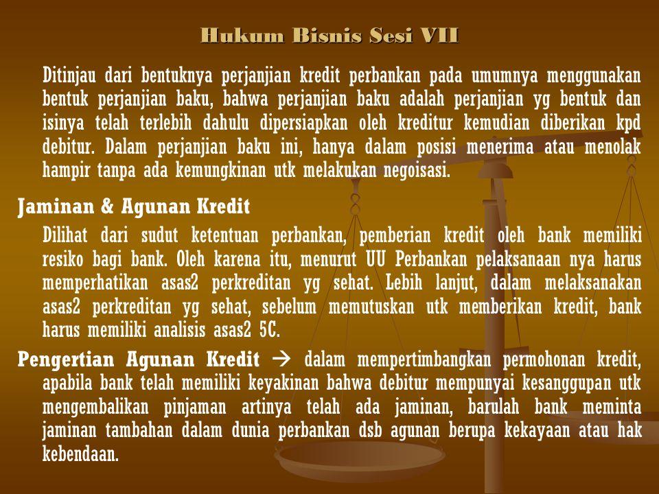 Hukum Bisnis Sesi VII