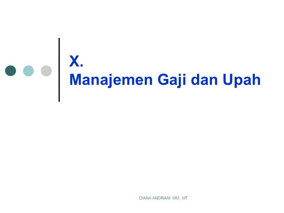 X. Manajemen Gaji dan Upah
