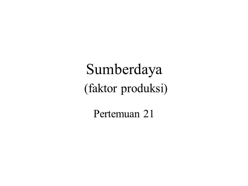 Sumberdaya (faktor produksi)