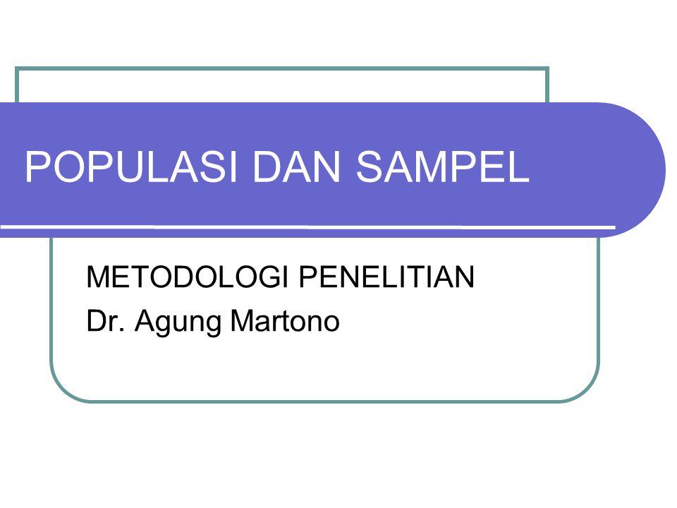 METODOLOGI PENELITIAN Dr. Agung Martono